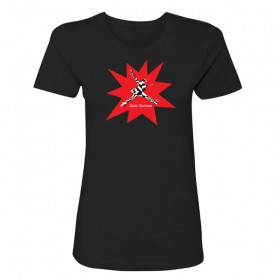 Abstract - Womens Black T-shirt