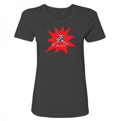 Abstract - Womens Heavy Metal Gray T-shirt