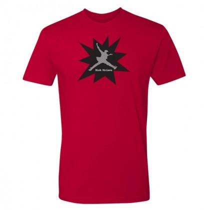 Checker - Mens Red T-shirt