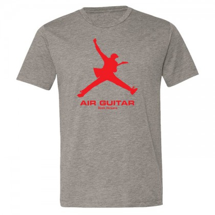 Air Guitar - Mens Heather Gray T-shirt