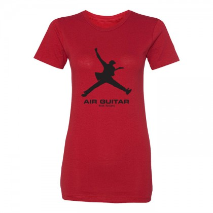 Air Guitar - Womens Red T-shirt