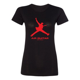Air Guitar - Womens Black T-shirt
