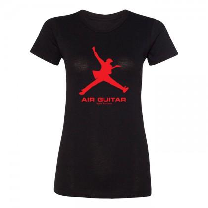 Air Guitar - Womens Black T-shirt