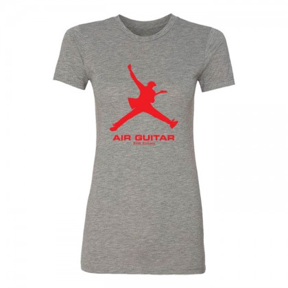 Air Guitar - Womens Heather Gray T-shirt