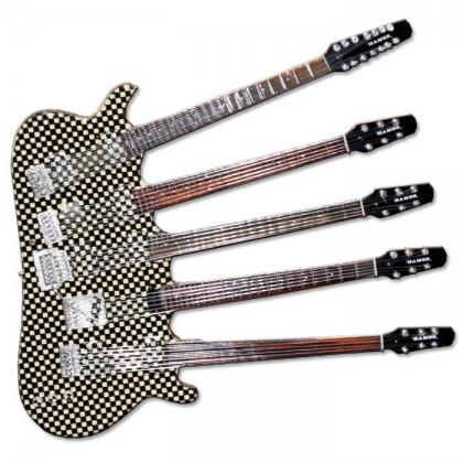 Five-neck Checkered Mini Guitar