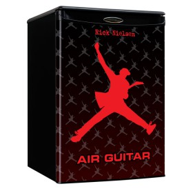 Air Guitar Mini Fridge - Red / Gray