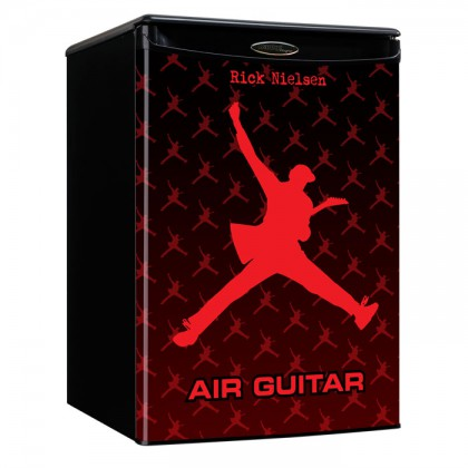 Air Guitar Mini Fridge - Red / Red